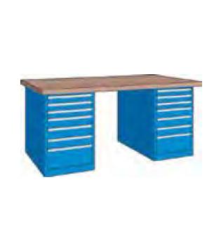 Etabli sur 2 armoires tiroirs